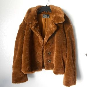 FREE PEOPLE 'Mena' Faux Fur Jacket
